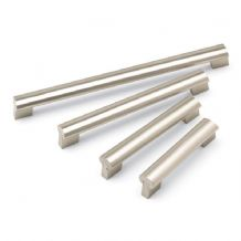 DOVETAIL Bar Cupboard Handle - 2 sizes -BRUSHED NICKEL finish (ECF FF74436/FF74476)